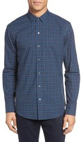 Zachary Prell Men's Adler Trim Fit Plaid Sport Shirt