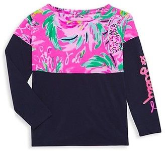 Lilly Pulitzer Little Girl's & Girl's Floral-Print Long-Sleeve Shirt