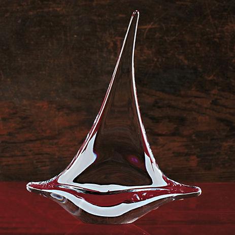 Simon Pearce Glass Sailboat, Medium
