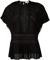 IRO pleated trim top