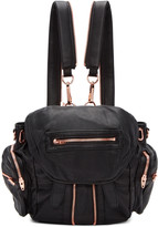 Alexander Wang Black and Rose Gold Mini Marti Backpack