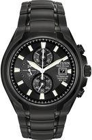 Citizen Eco-Drive Mens Black Titanium Chronograph Watch CA0265-59E