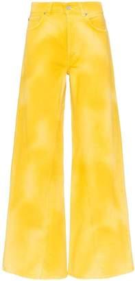 Ganni tie-dye wide leg jeans