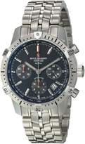 Revue Thommen 16055-6134 Men's Airspeed XLarge Commander Wrist Watch, Dial with Silver Band