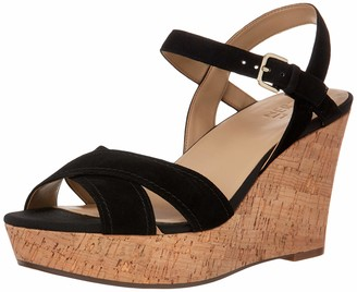 Naturalizer Womens Zia Black Suede Ankle Straps 9 M