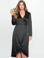 ELOQUII Plus Size Studio Tuxedo Dress