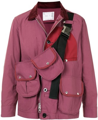 Sacai Detachable Strapped Pouches Shirt Jacket