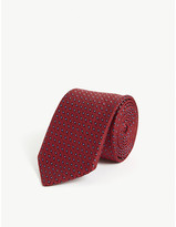 Pal Zileri Geometric diamond silk tie