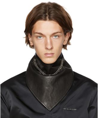 Alyx Black Leather Chain Bandana