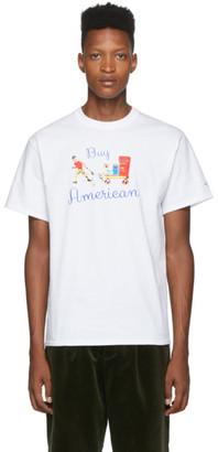 Noah NYC White Buy American T-Shirt