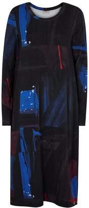 Crea Concept Black Printed Jersey Dress