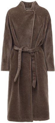 Agnona Brushed Alpaca Coat W/ Belt