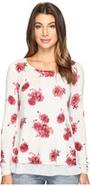 Lucky Brand Open Floral Pullover Sweater Women's Sweater
