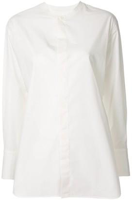 Y's Collarless Cotton Shirt