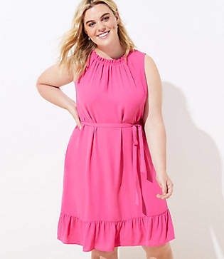 LOFT Plus Tiered Swing Pocket Dress