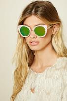 Forever 21 FOREVER 21+ Mirrored Eye Sunglasses