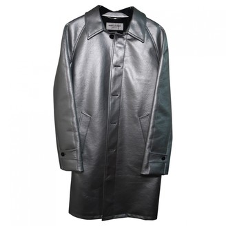 Saint Laurent Silver Polyester Coats