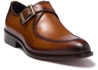 MAISON FORTE Eli Buckle Strap Leather Loafer