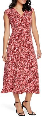 Chaus Pebble Ruched Midi Dress