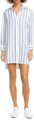 Frank And Eileen Stripe Linen Shirtdress