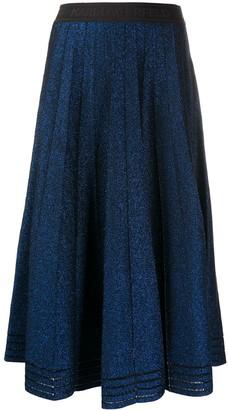 Karl Lagerfeld Paris Pleated Lurex Skirt