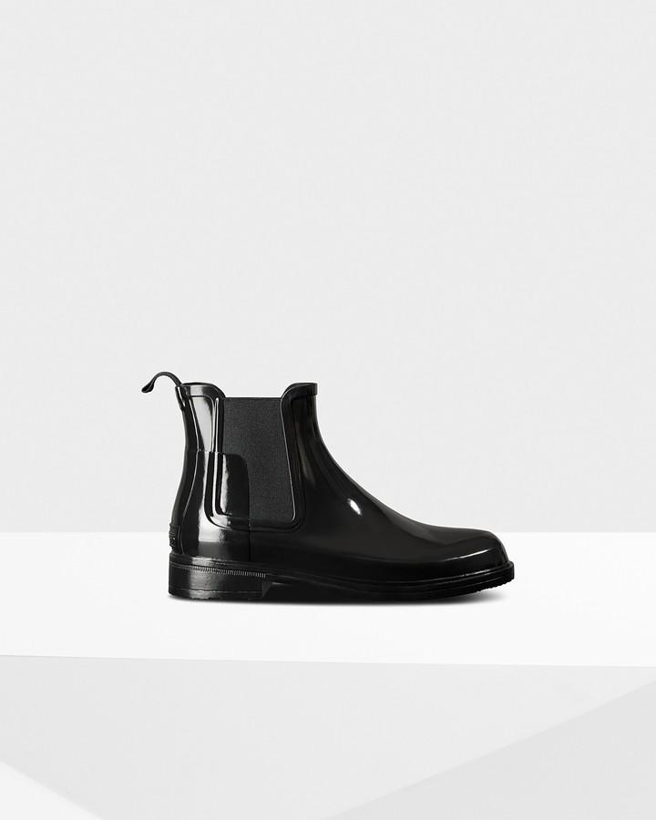 Hunter Men's Refined Slim Fit Gloss Chelsea Boots