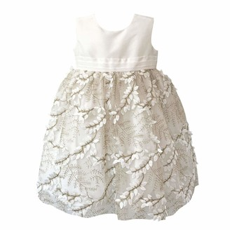 Mini Vanilla London Baby Girls Sleveeless Christening Party Dress: A very distinctive fabric makes this girls special occasion dress quite unique. There's nothing like it on the High Street. Ages 0-3 months to 24 months.