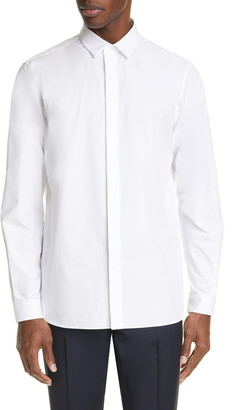 Valentino Slim Fit Embroidered Button-Up Shirt