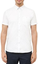 Ted Baker Gotgame Dobby Regular Fit Button Down Shirt
