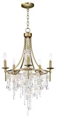 Bungalow Rose Pinheiro 5-Light Candle Style Wagon Wheel Chandelier