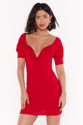 Nasty Gal Womens Deep 'Em Guessing Off-The-Shoulder Dress - Red - 6, Red