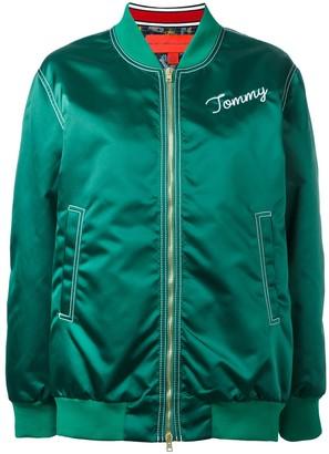 Tommy Hilfiger logo bomber jacket