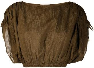 Marysia Swim Textured Cropped Blouse