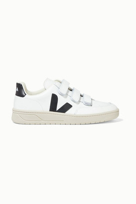 Veja Net Sustain V-lock Leather Sneakers - White