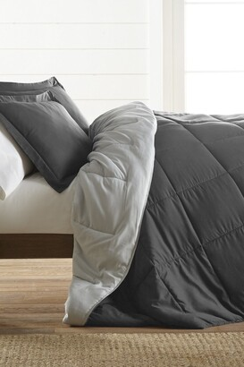 IENJOY HOME Treat Yourself To The Ultimate Down Alternative Reversible 2-Piece Comforter Set - Gray - Twin