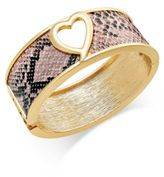 Thalia Sodi Heart Hinged Bangle Bracelet, Only at Macy's