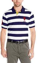 U.S. Polo Assn. Men's Striped Pique Polo Shirt