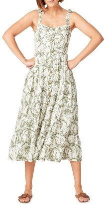 French Connection Tonal Tropical Tiered Dress