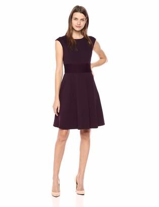 Eliza J Women's Cap Sleeve Fit and Flare Dress