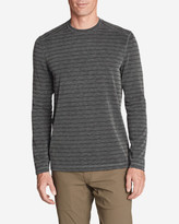 Eddie Bauer Men's Contour Long-Sleeve Crew - Stripe