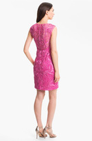 Sue Wong Embroidered Lace Sheath Dress