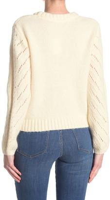 Elodie K Long Sleeve Pointelle Pullover