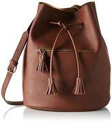 Pieces Pclellis Tighten Bag, Women's Shoulder Braun (Cognac)