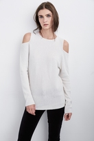 Avril Cold Shoulder Cashmere Sweater