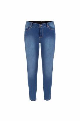 Tribal Women's Misses Soft Touch Denim with Comfort Waistband-RETROBLUE 12