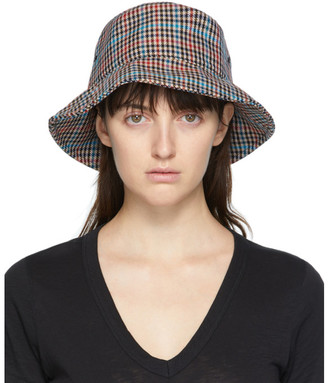 Rag & Bone Multicolor Plaid Bucket Hat