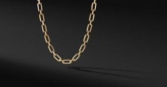 David Yurman Elongated Open Link Chain In 18K Yellow Gold