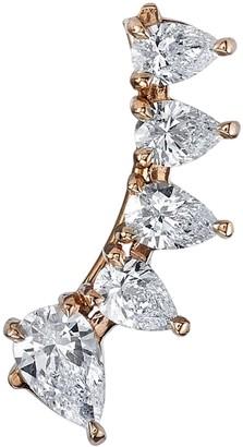 Anita Ko 18kt Rose Gold Floating Diamond Earring