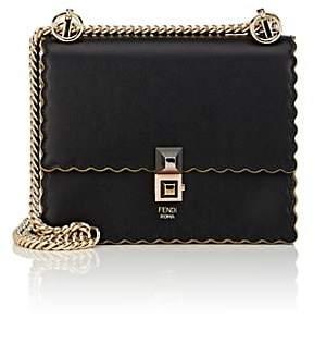 Fendi Women's Kan I Mini Leather Shoulder Bag - Black