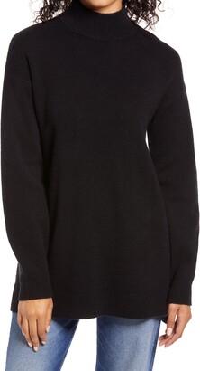 Halogen Wool & Cashmere Turtleneck Sweater